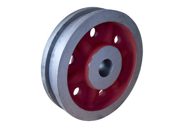 Travelling wheel<br/>Purpose: Crane<br/>Weight: 340 kg<br/>Material: GS 42 CrMo4V